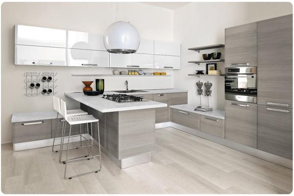 Foto cucina grigia di marilisa dones 355376 habitissimo - Cucina laccato bianco ...