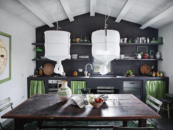 Foto: Cucina In Muratura con Mensole di Rossella Cristofaro #514830 ...