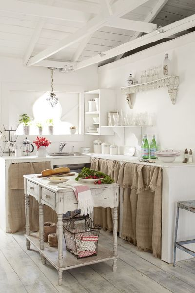Shabby Chic Country Cucine In Muratura