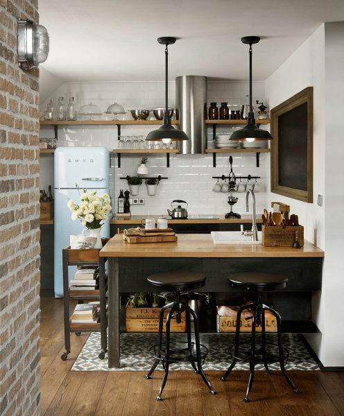 Foto cucina in stile vintage e industriale di rossella - Cucine stile industriale vintage ...