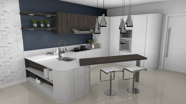 Foto cucina laccata bianca realizzata da arch echeli di - Cucina laccata bianca ...