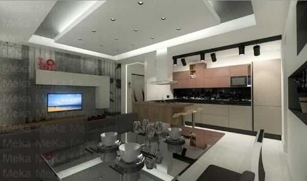 Foto: Progetto Open Space - Cucina Living di Meka Arredamenti ...