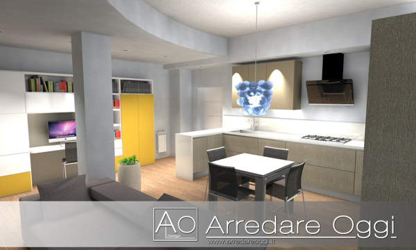 Foto cucina living di arredare oggi interior design studio 120399 habitissimo - Soggiorno living con cucina ...