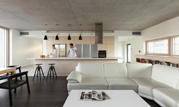 cucina open space moderna