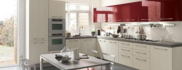 Foto cucina rossa e bianca di marilisa dones 356029 - Cucina bianca ikea ...