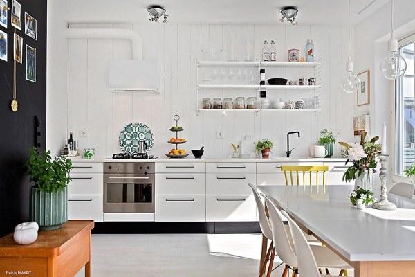 Foto cucina stile nordico di valeria del treste 326181 for Cucina aperta