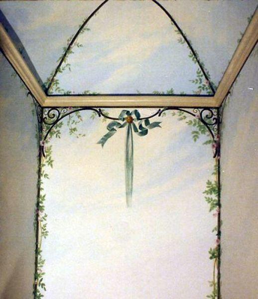 Foto decorazione pittorica bagno pareti e soffitto di - Decorazioni pareti bagno ...
