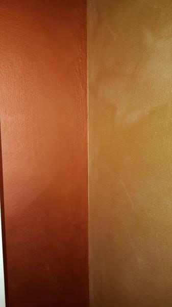 Foto effetto sabbia bronzo sulla parete di sinistra oro for Color sabbia per pareti