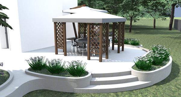 Foto gazebo su terrazzo circolare di architetto tomaso for Gazebo da terrazzo