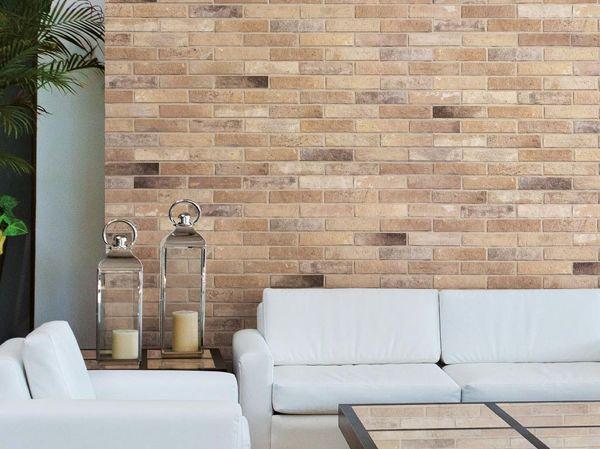 Foto gres porcellanato effetto pietra ricostruita e - Decorazioni per il bagno ...