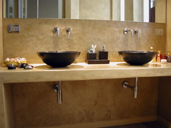 Foto il piano lavabo di decori e rivestimenti keloe - Lavabo in muratura per bagno ...