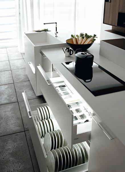 Foto: Illuminazione All\'interno Dei Mobili della Cucina di Rossella ...