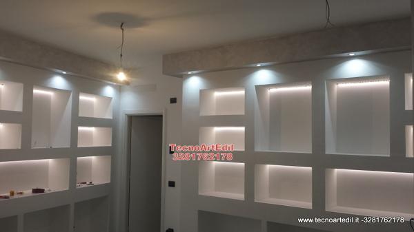 Foto: illuminazione con strisce led per cartongesso di tecnoartedil