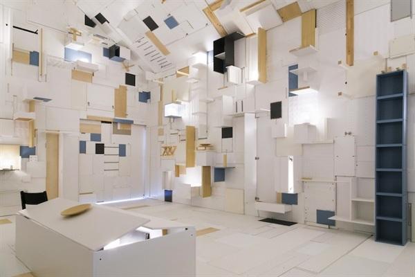 foto installazione ikea durante il salone del mobile 2018