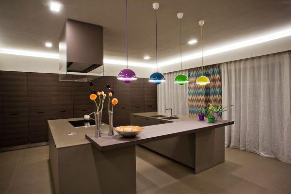 Foto: lampade led e colore .un connubio perfetto! di verde mattone