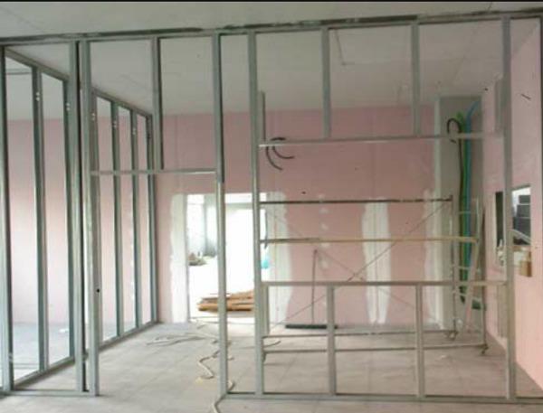 Ufficio In Cartongesso : Foto lavori costruzione ufficio con cartongesso ed impianti vari