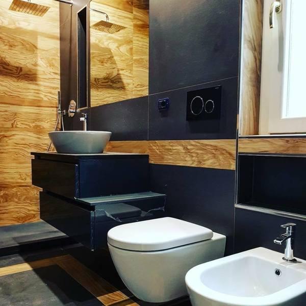 Foto le geometrie del bagno padronale di make live design - Bagno padronale ...