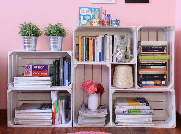 Libreria Fai Da Te.Foto Libreria Fai Da Te Con Cassette Di Frutta Di Marilisa Dones