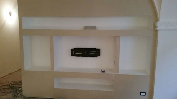 Foto libreria porta tv in cartongesso di nuova edile one - Porta di cartongesso ...