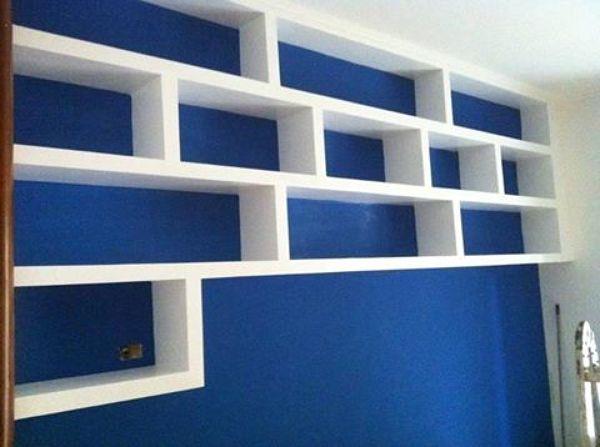 Foto libreria sopra letto di italsoffitti di - Tende per sopra il letto ...