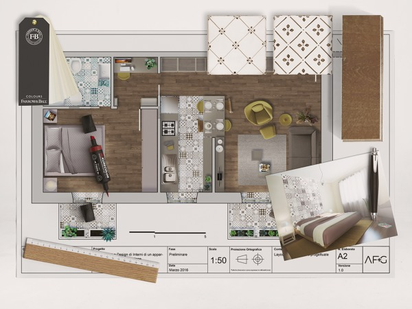 Foto moodboard del progetto di interni di af g architetti for Progetti design interni