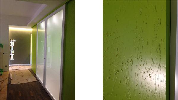Foto parete cucina in pannelli osb smaltati di studio di - Pannelli parete cucina ...