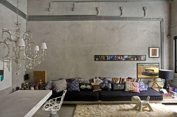 Pittura Effetto Cemento Grezzo : Foto parete effetto cemento di silvia habitissimo