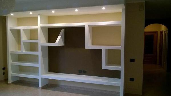 Pareti Soggiorno In Cartongesso : Foto parete soggiorno in cartongesso di idea interiors