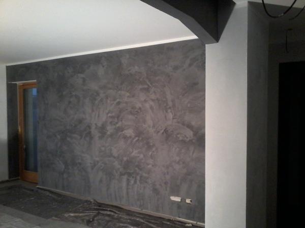Colore Per Pareti Grigio Perla : Foto pareti a stucco veneziano bianco carrara di chelin