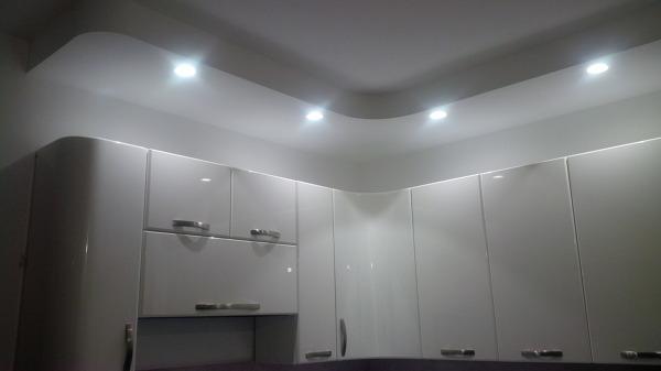 Foto particolare illuminazione cucina di studio di consulenza e