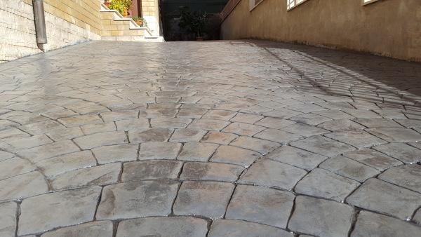 Calcestruzzo Stampato Palermo : Foto pavimento in cemento stampato modello sampietrino di petrov