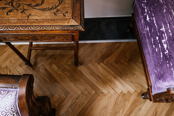 Foto pavimento un tappeto in parquet di idea ristruttura