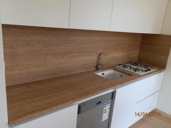 Piano Cucina In Marmo Travertino.Foto Piano Cucina Travertino Di Marmi Planet 540459 Habitissimo