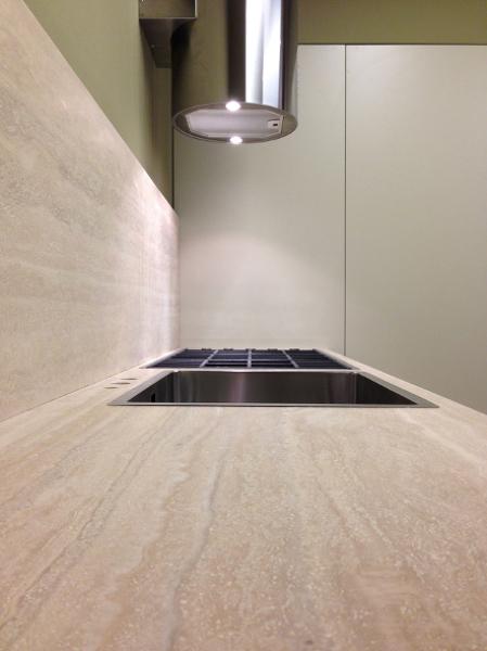 Piano Cucina In Marmo Travertino.Foto Piano Cucina Travertino Di Marmi Planet 540460 Habitissimo