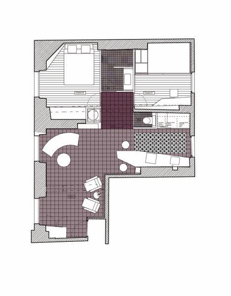 Foto pianta appartamento 50 mq di rossella cristofaro for Appartamento 50