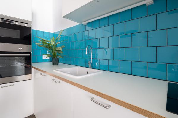 Foto: piastrelle cobalto in cucina di francesco esposito #375646