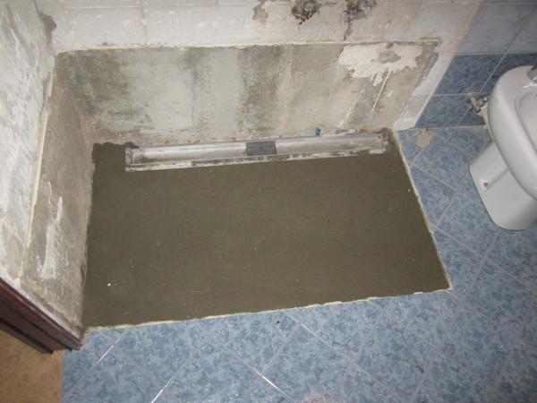 piatto doccia in muratura impermeabilizzazione