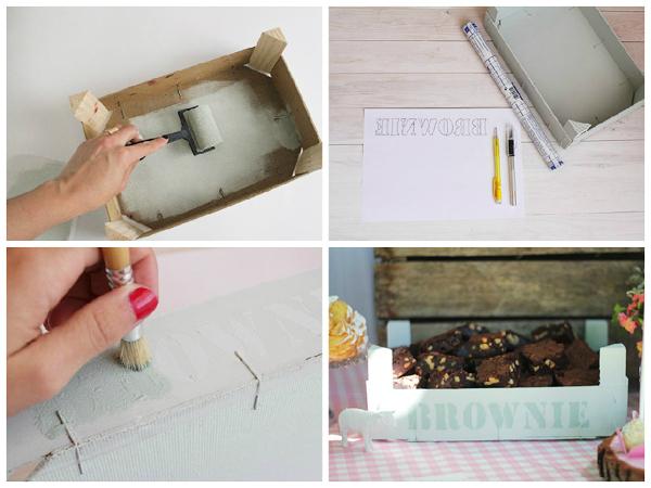 Foto pitturare cassette in legno di valeria del treste