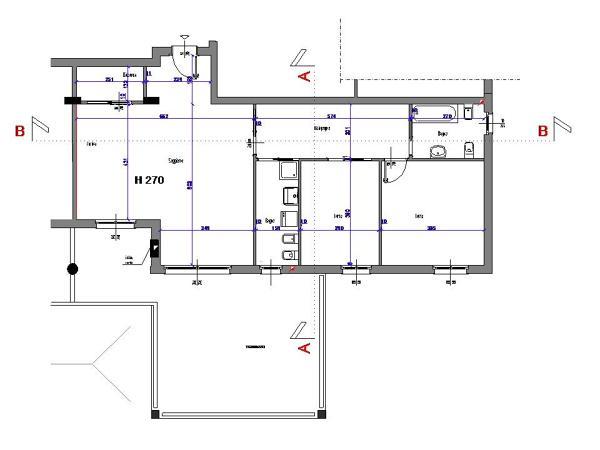 Foto planimetria della distribuzione esistente di for Miglior design della planimetria