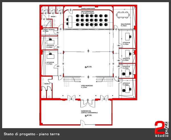 Foto planimetria di progetto piano terra di studio 2 for Progetto piano terra