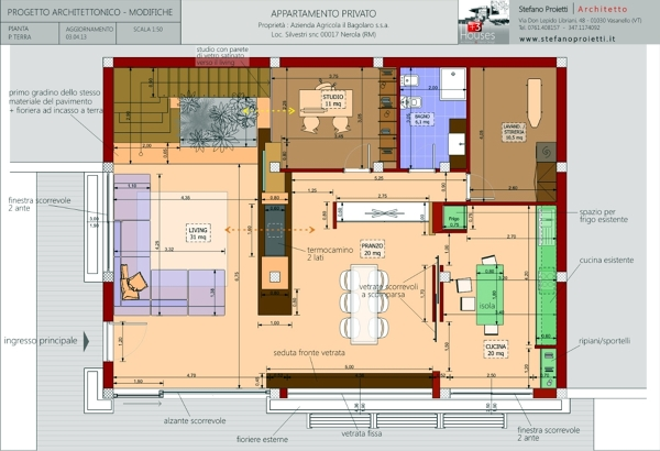 Foto progettazione per un appartamento privato a nerola for Foto di case a pianta aperta