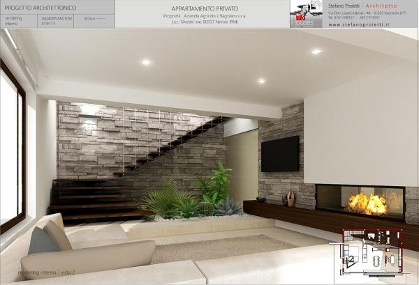 Foto progettazione per un appartamento privato a nerola for Software di progettazione di costruzione di case gratuito