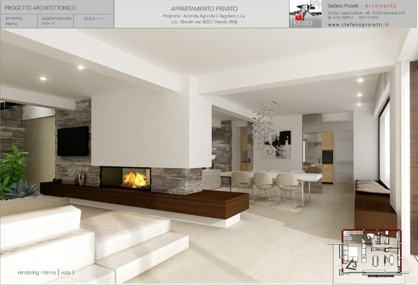Foto progettazione per un appartamento privato a nerola for Piani di idee di progettazione seminterrato