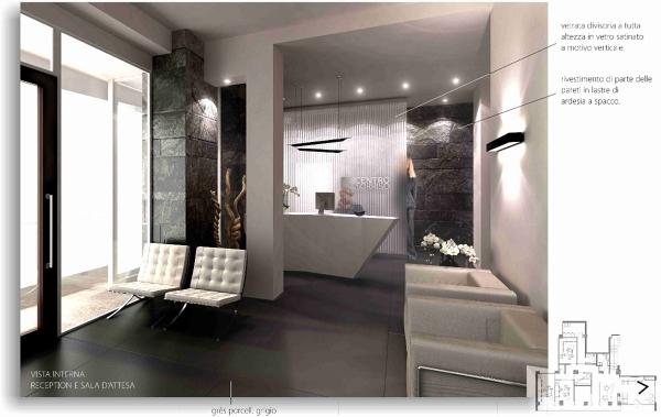 Foto progettazione per uno studio odontoiatrico a terni for Arredamento per studio medico