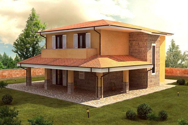 Foto progetto 3d villa 2 livwlli di project costruzioni - Costo architetto costruzione casa ...