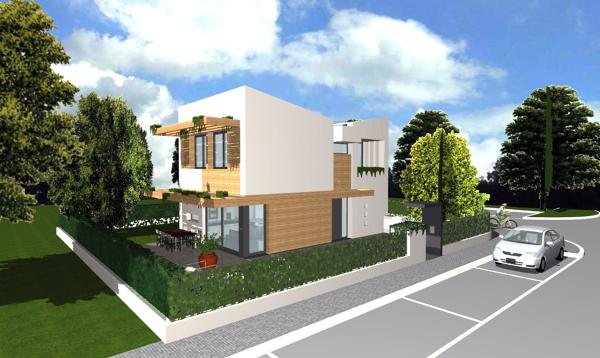 Foto progetto di casa unifamiliare compatta 140 mq di for Rendere i progetti di casa online gratis