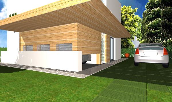 Foto progetto di casa unifamiliare compatta 140 mq di for Idee per la costruzione di case a basso costo
