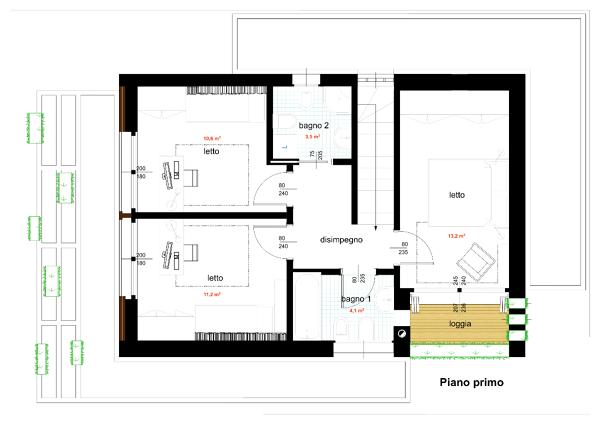 Foto progetto di casa unifamiliare compatta 140 mq di for Due progetti di garage per auto