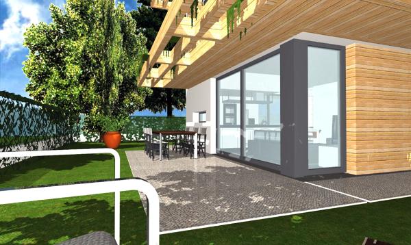 Foto progetto di casa unifamiliare compatta 140 mq di for Quanto costa costruire un garage 24x24