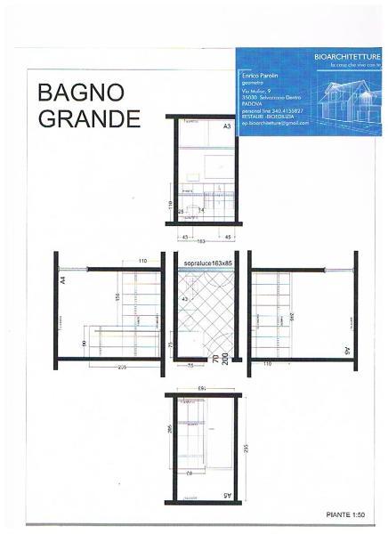 Foto progetto disposizione bagno e schema di posa di for Piccole case quadrate